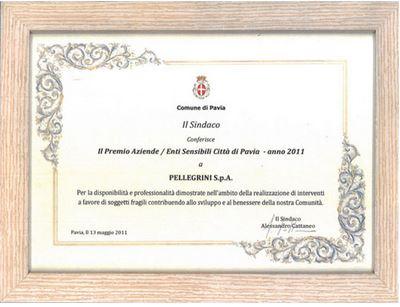 Il Premio Pellegrini Anno 2011